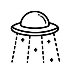 Ufo outline icon vector