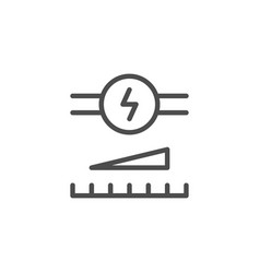 Voltage regulation line icon vector