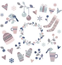 Winter design elements vector