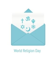 World religion day concept vector image