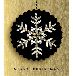 Gold Christmas snowflake in abstract style design vector image vector image