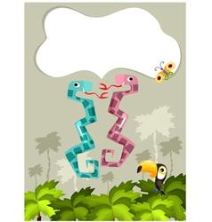 jungle card vector image