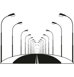 Night street road vector