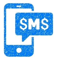 Phone sms grainy texture icon vector