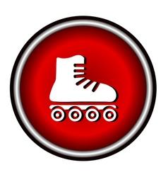 Roller skates sign icon on white background vector image