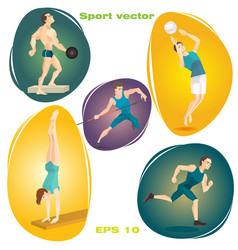 set of sports vector image