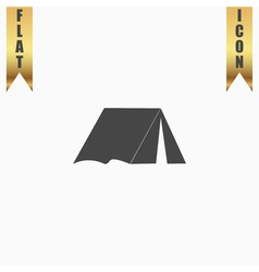 Tourist tent flat icon vector image vector image
