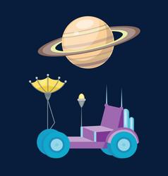 moonwalker with radar and manipulator spaceship vector image vector image