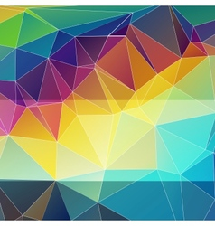 multicolored abstract background of triangles vector image vector image