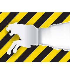 Paper Tiger Construction Sign Background vector image vector image