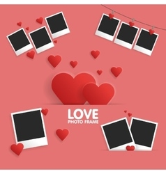 Postcard Happy Valentines Day template for photo vector image