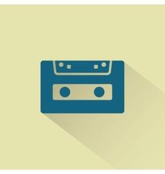Retro audio cassette icon vector image vector image