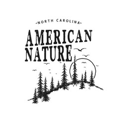 typography logo with forest vector image vector image