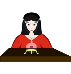young fortuneteller witch vector image vector image