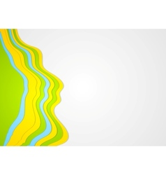Abstract colorful waves background vector image vector image