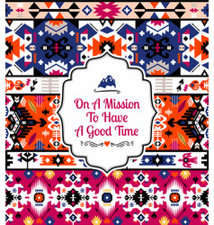 american tribal seamless pattern design vector image