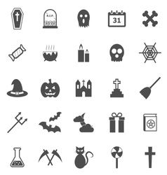 Halloween icons on white background vector image vector image