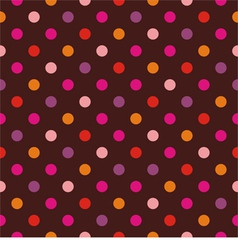 Seamless dark pattern with colorful polka dots vector image vector image