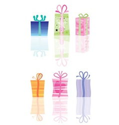 abstract present and gift icons vector image vector image