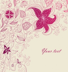 back floral vector image