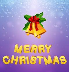 Bells merry christmas vector image vector image