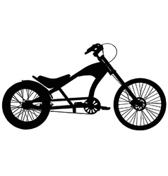 Chopper bicycle vector image vector image