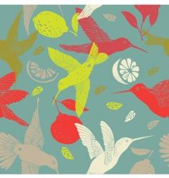 humming birds pattern vector image vector image