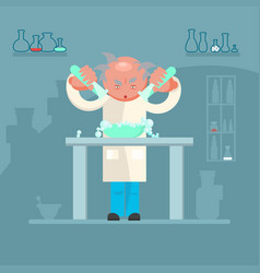 male scientist in lab room vector image