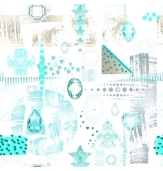 Trendy modern seamless pattern with abstract vector image vector image