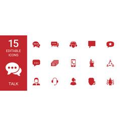15 talk icons vector