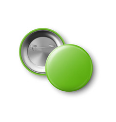 3d realistic green metal plastic blank vector image