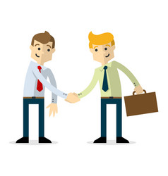 A businessmen shaking hands each others vector