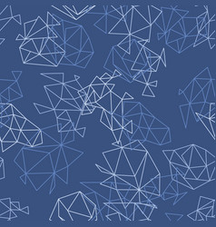 abstract geometric pattern in blue color vector image