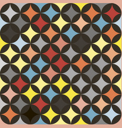 abstract seamless retro tile pattern with vector image