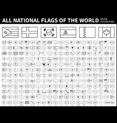 all national flags world outline shape vector image