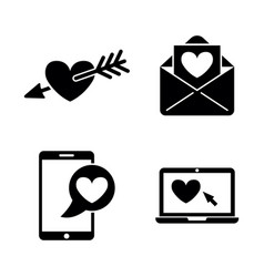 amour simple related icons vector image