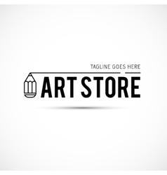 Art tools and materials for painting logo vector image