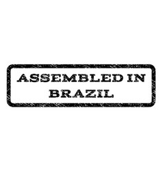 assembled in brazil watermark stamp vector image