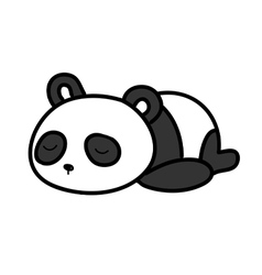 Baby panda sleeping vector