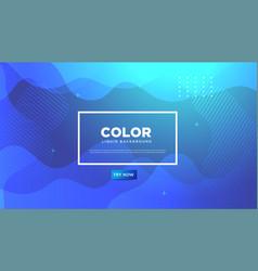 background liquidliquid colorful geometric vector image