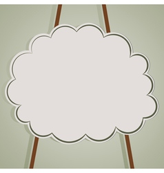 Background with cloud and ropes vector