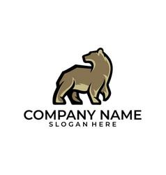 Bear template vector