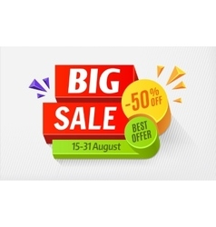 Big sale special offer bright colourful banner vector