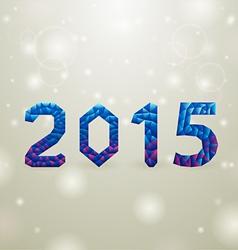 Blue 2015 christmas backgorund vector