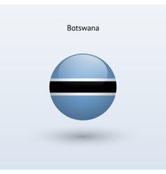 Botswana round flag vector image