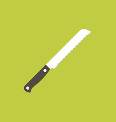 bread knife icon vector image