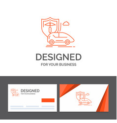 Business logo template for car hand insurance vector