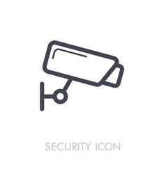 Camera cctv icon video monitoring sign vector