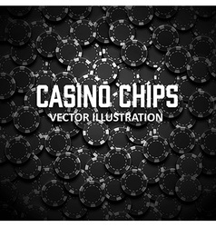 Casino chips top view with shadows vector