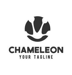 Chameleon footprints logo design vector
